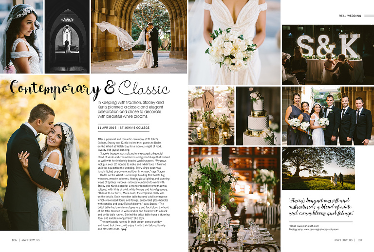 Wedding Flowers Magazine Feature