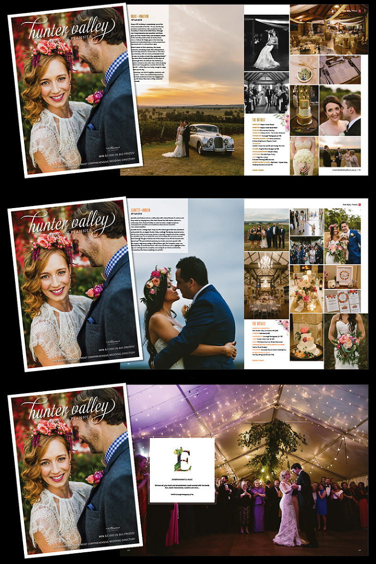 Hunter Valley Wedding Planner Magazine features