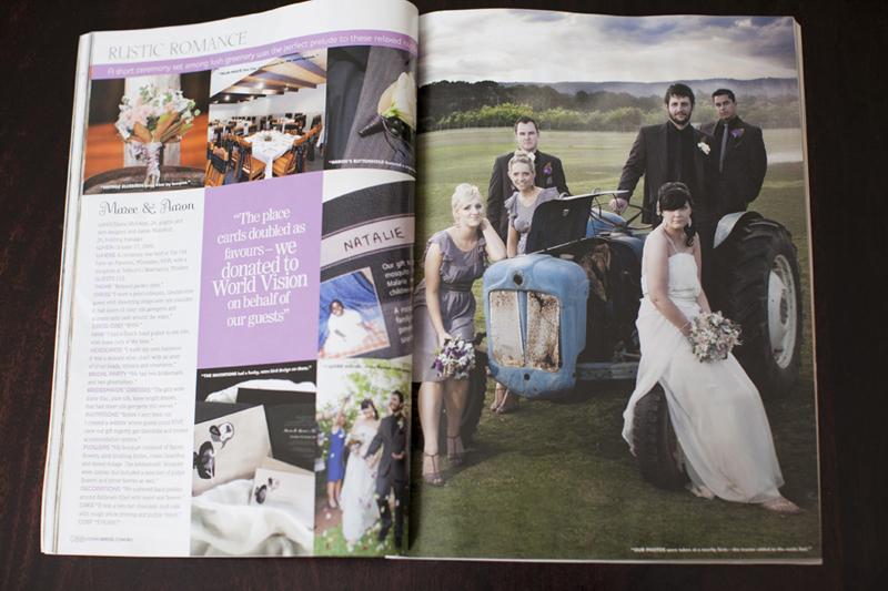 Cosmopolitan Bride Magazine - Real Wedding Feature