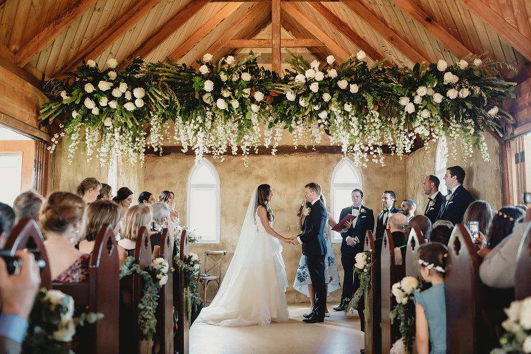 Peppers creek barrel room wedding