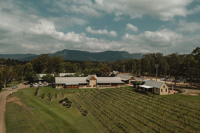 peppers creek barrel room wedding in the Hunter Valley.