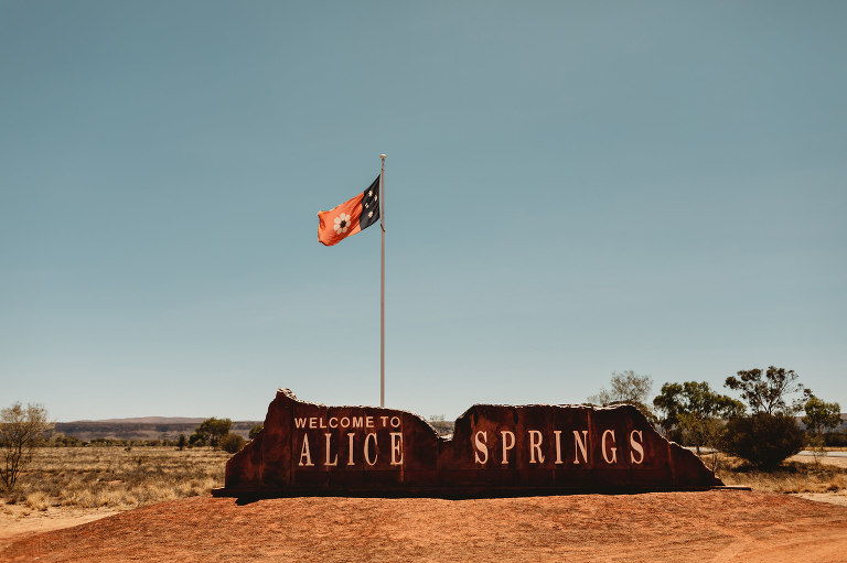 Alice springs wedding