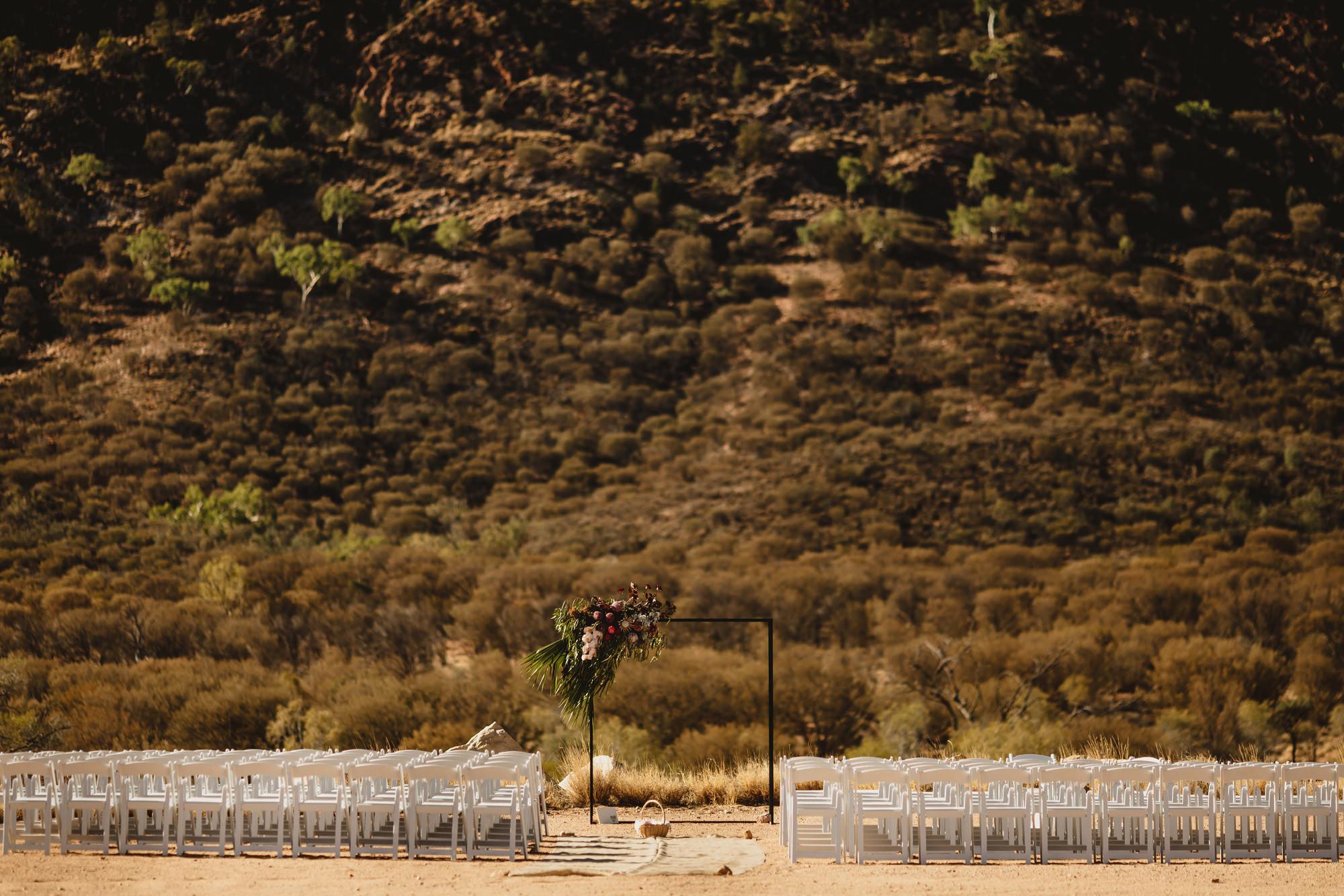 Alice springs wedding the quarry