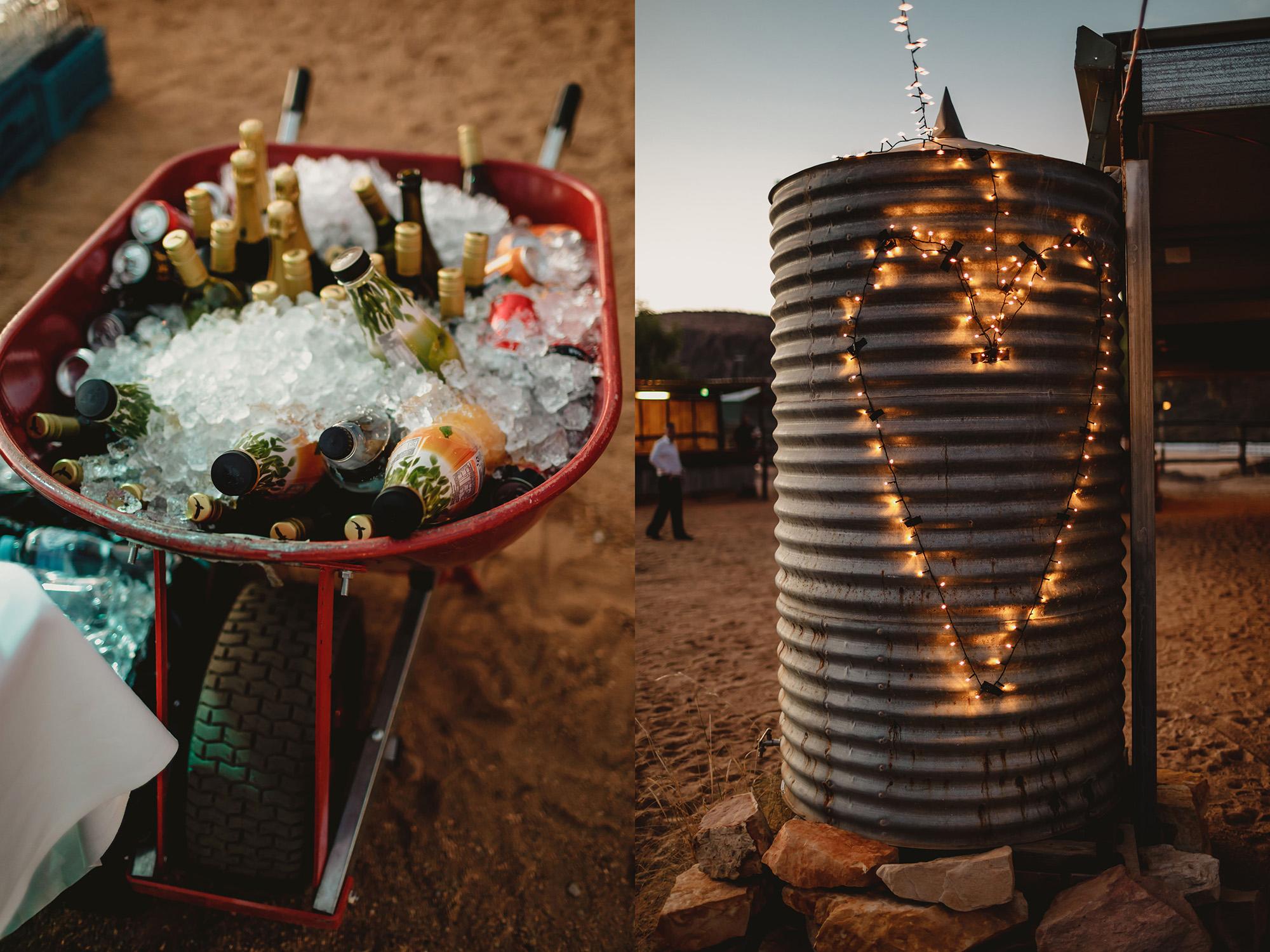 Alice springs wedding the quarry reception