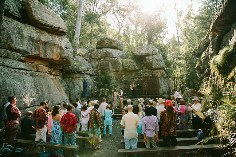 Kangaroo Valley Bush Retreat wedding ceremony Rock Cathedral