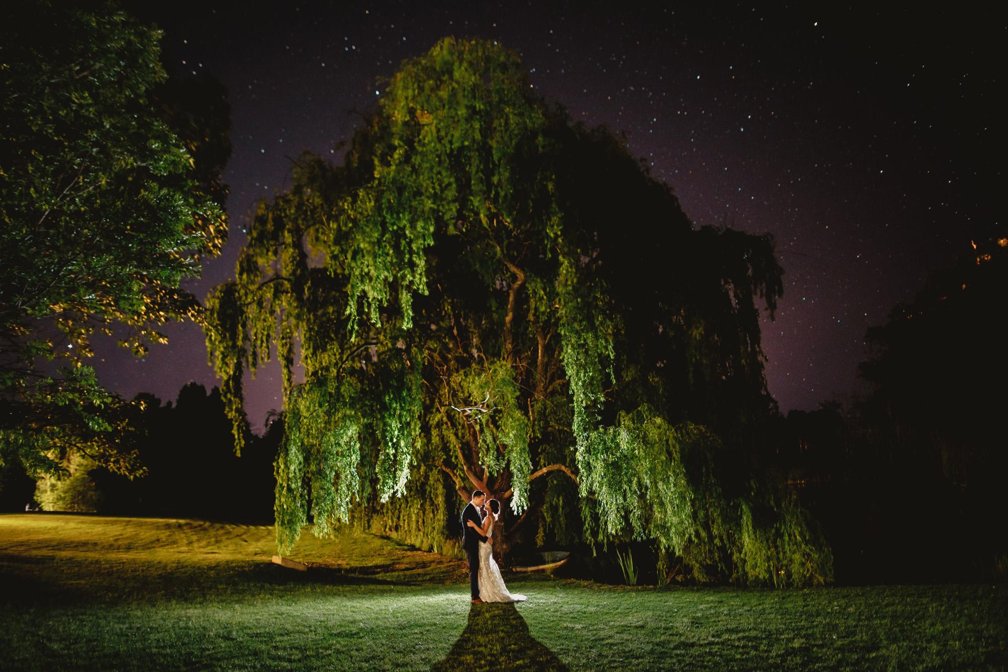 briars country lodge wedding night shot