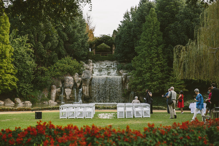 Sunken Garden at Hunter Valley Gardens weddings