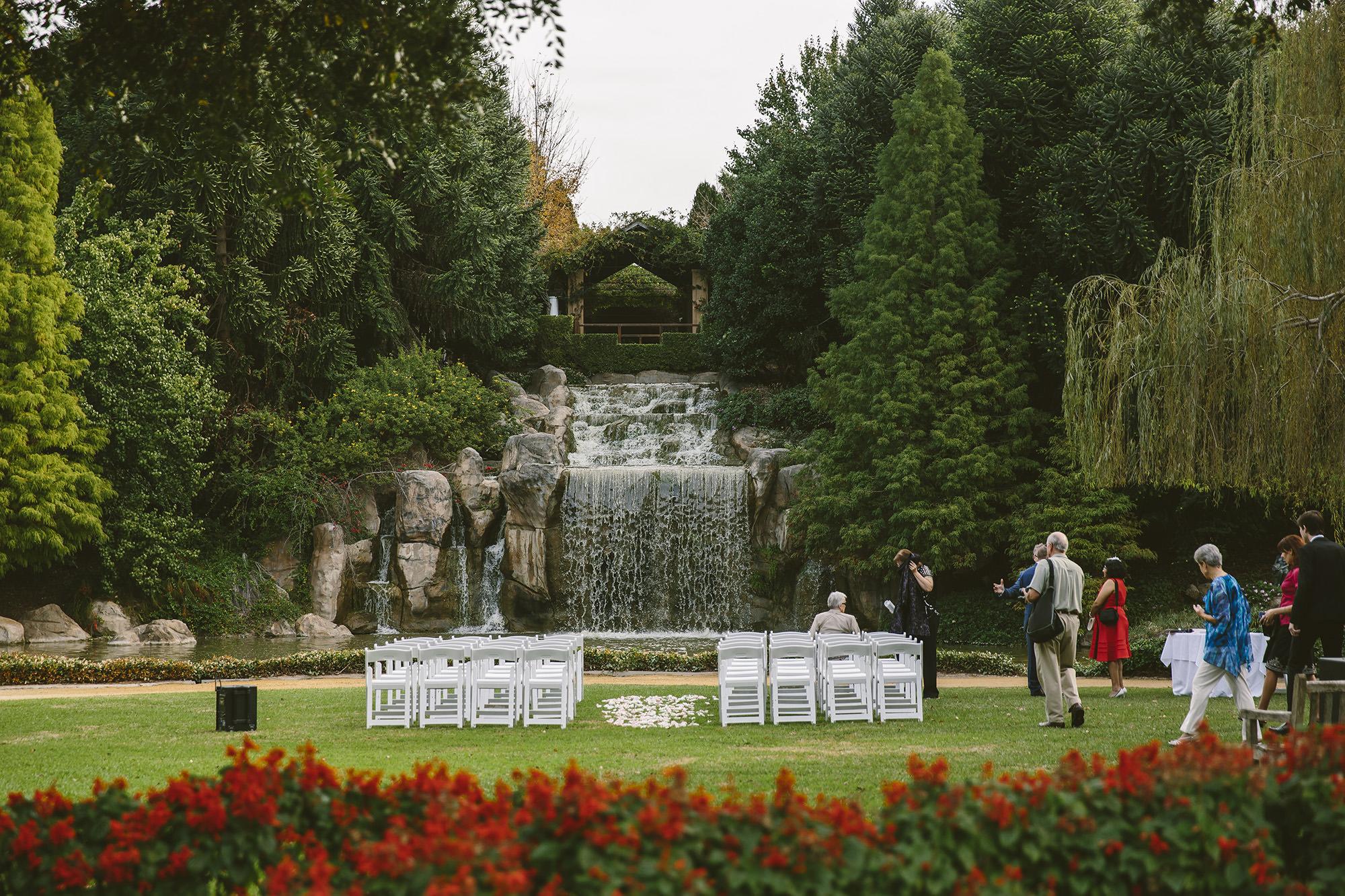 Sunken Garden at Hunter Valley Gardens weddings