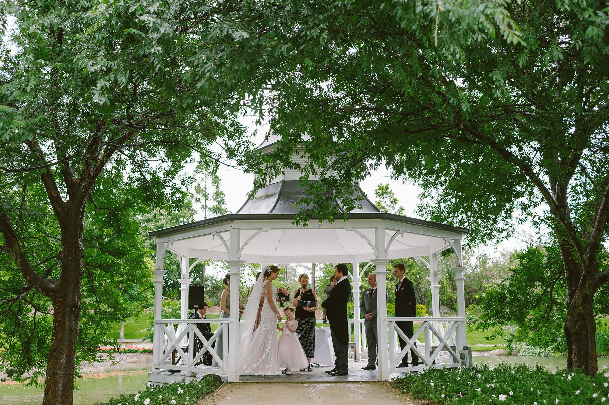 Lakes Walk Rotunda at Hunter Valley Gardens wedding