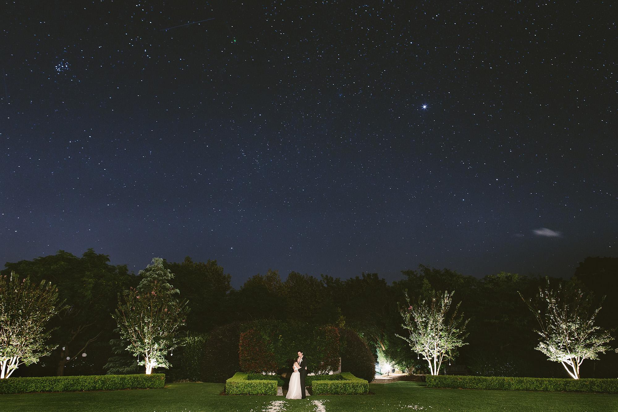 Bells at Killcare wedding night shot
