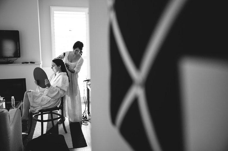 bride getting ready Bells at Killcare