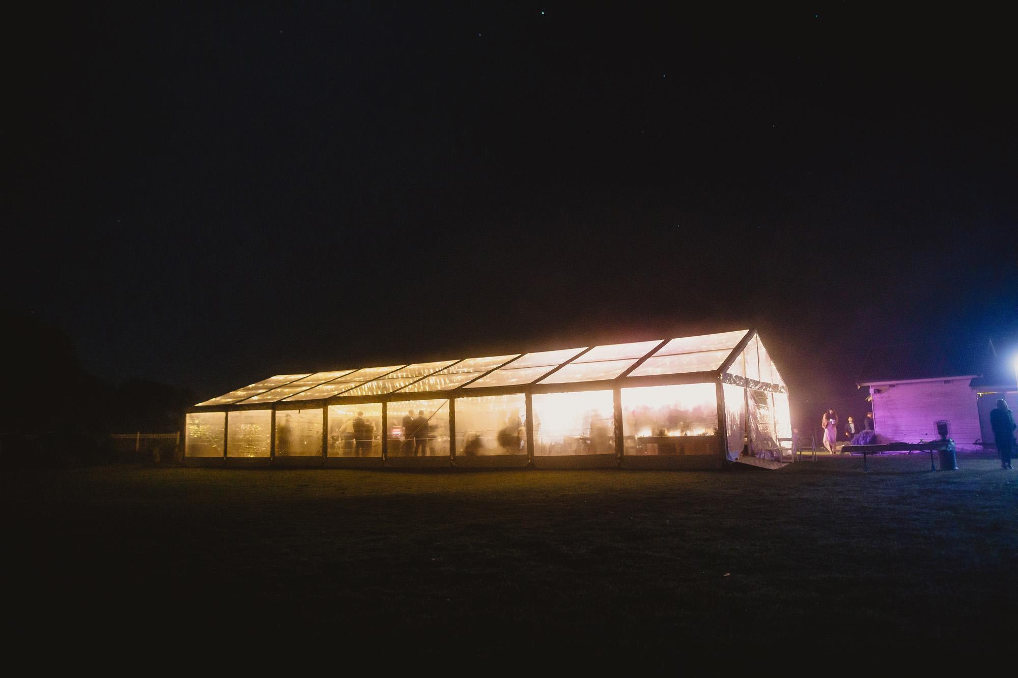 stanley park wedding at night
