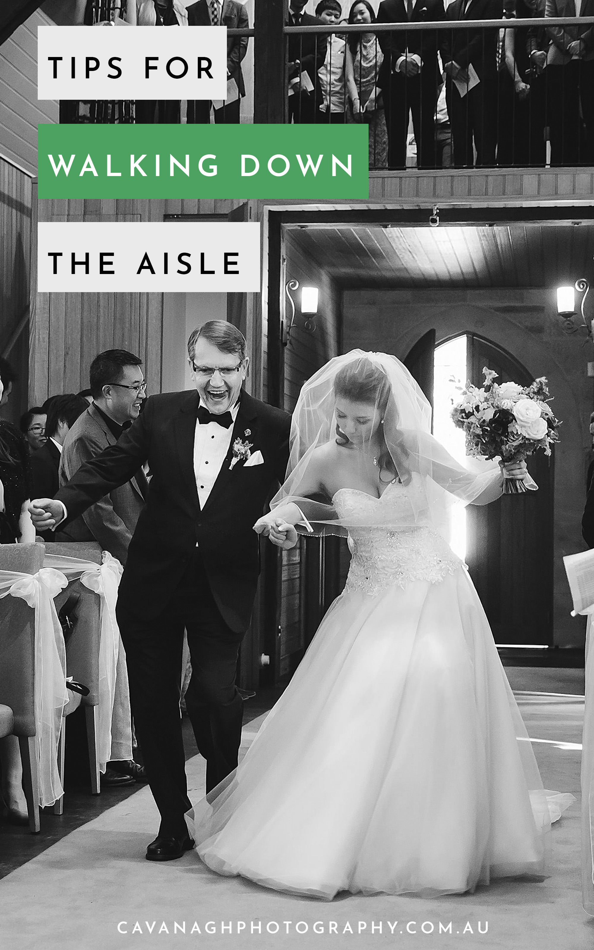 tips for walking down the aisle