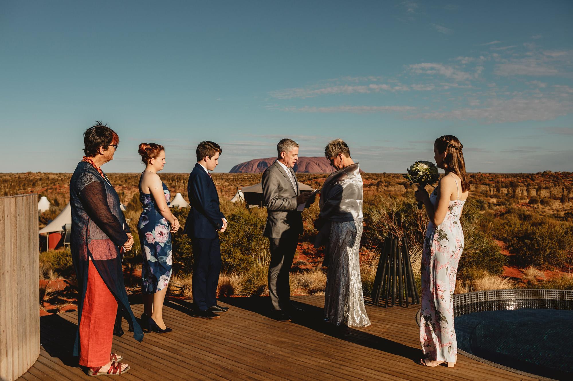 Uluru Elopement ceremony