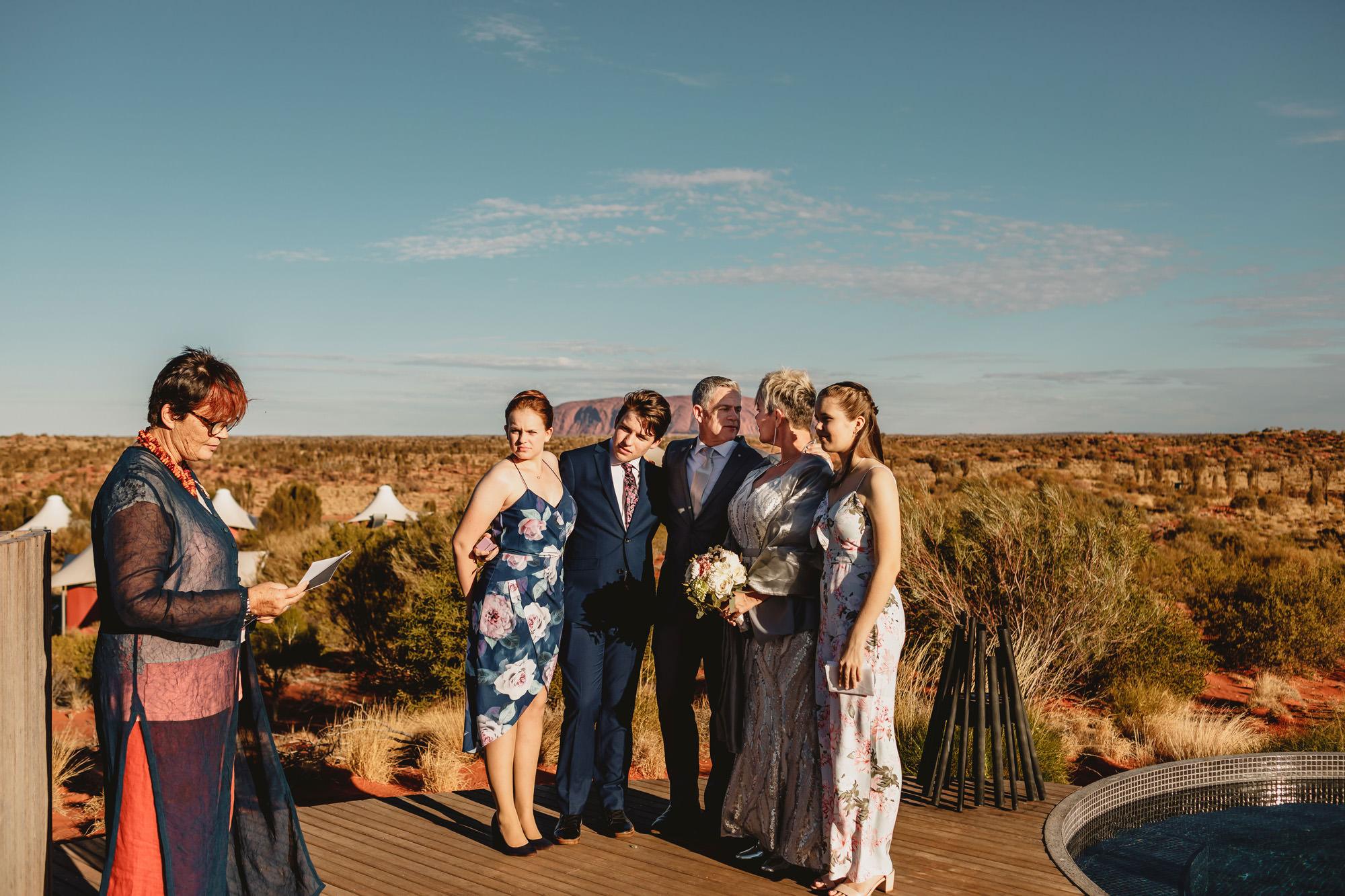 Uluru Elopement wedding ceremony