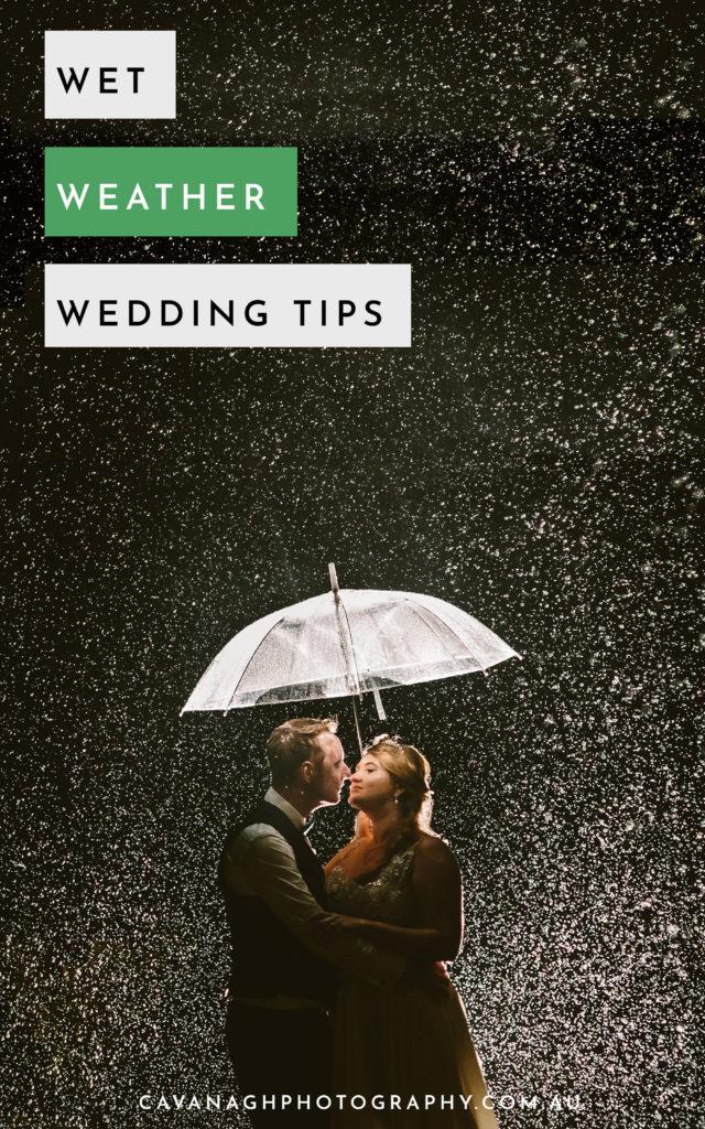 wet weather wedding tips