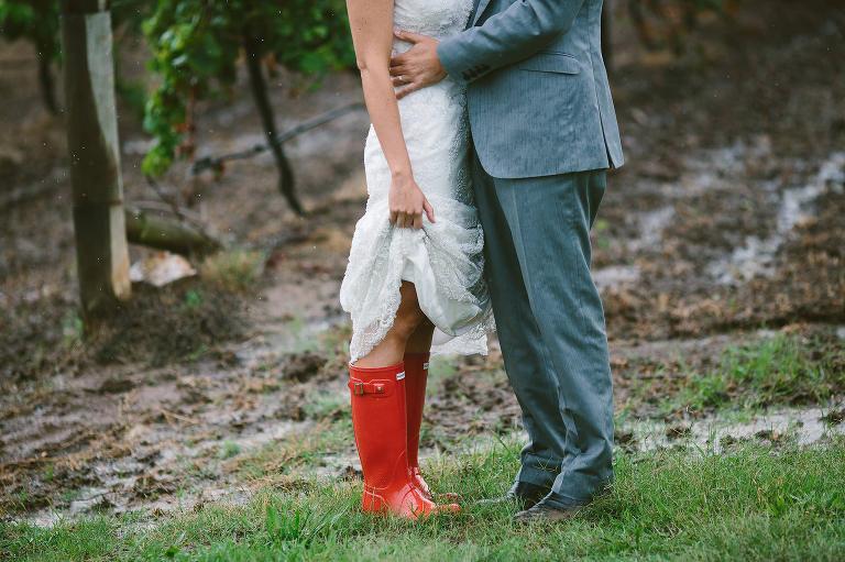 wet weather weddings gum boots