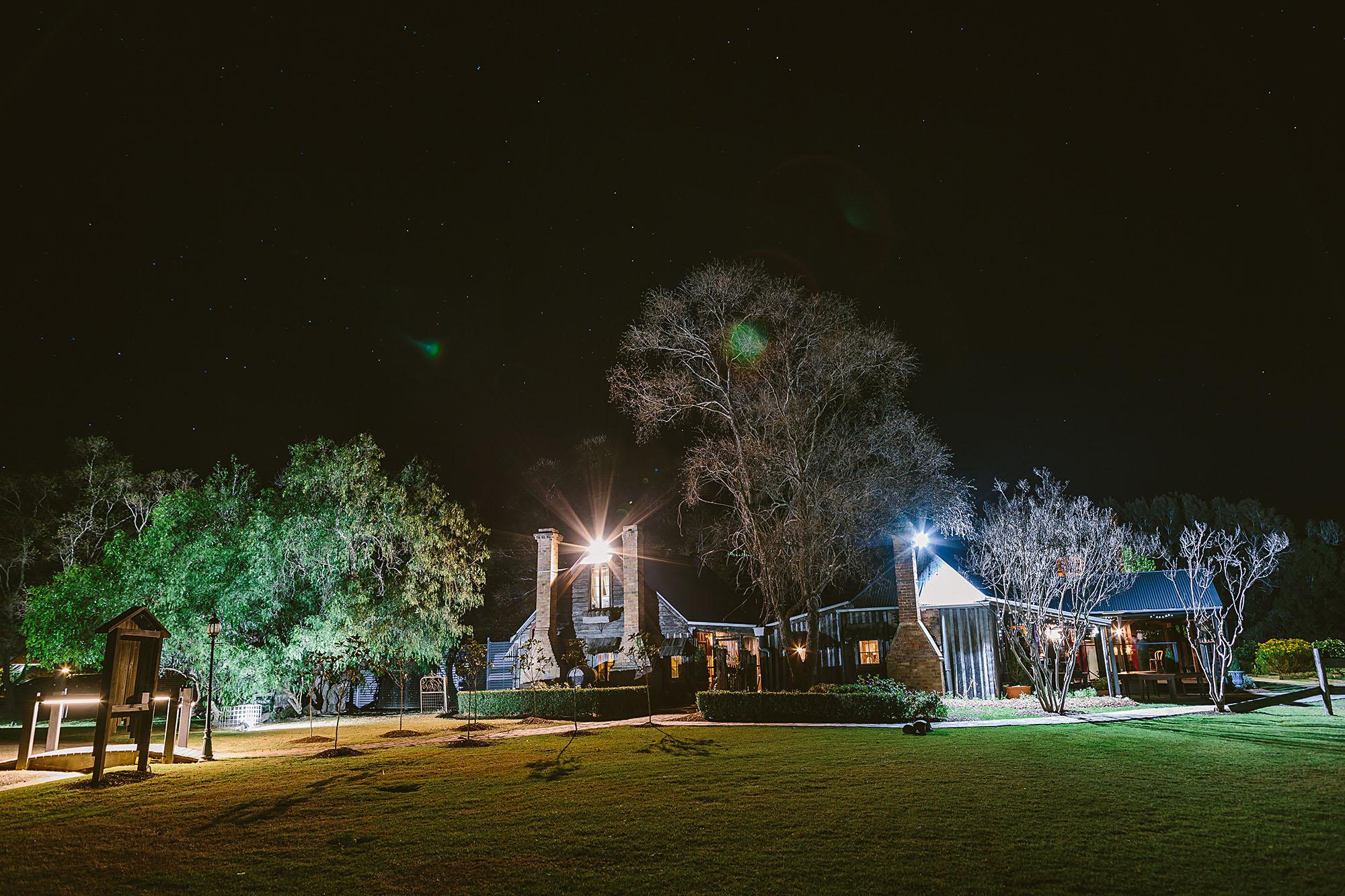 Front of Circa 1876 at night