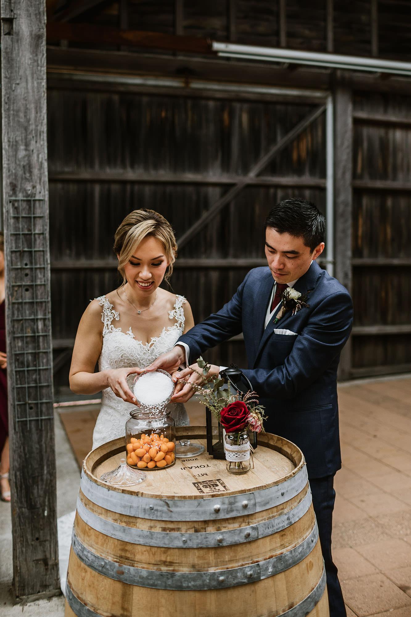 kumquat with salt wedding ceremony