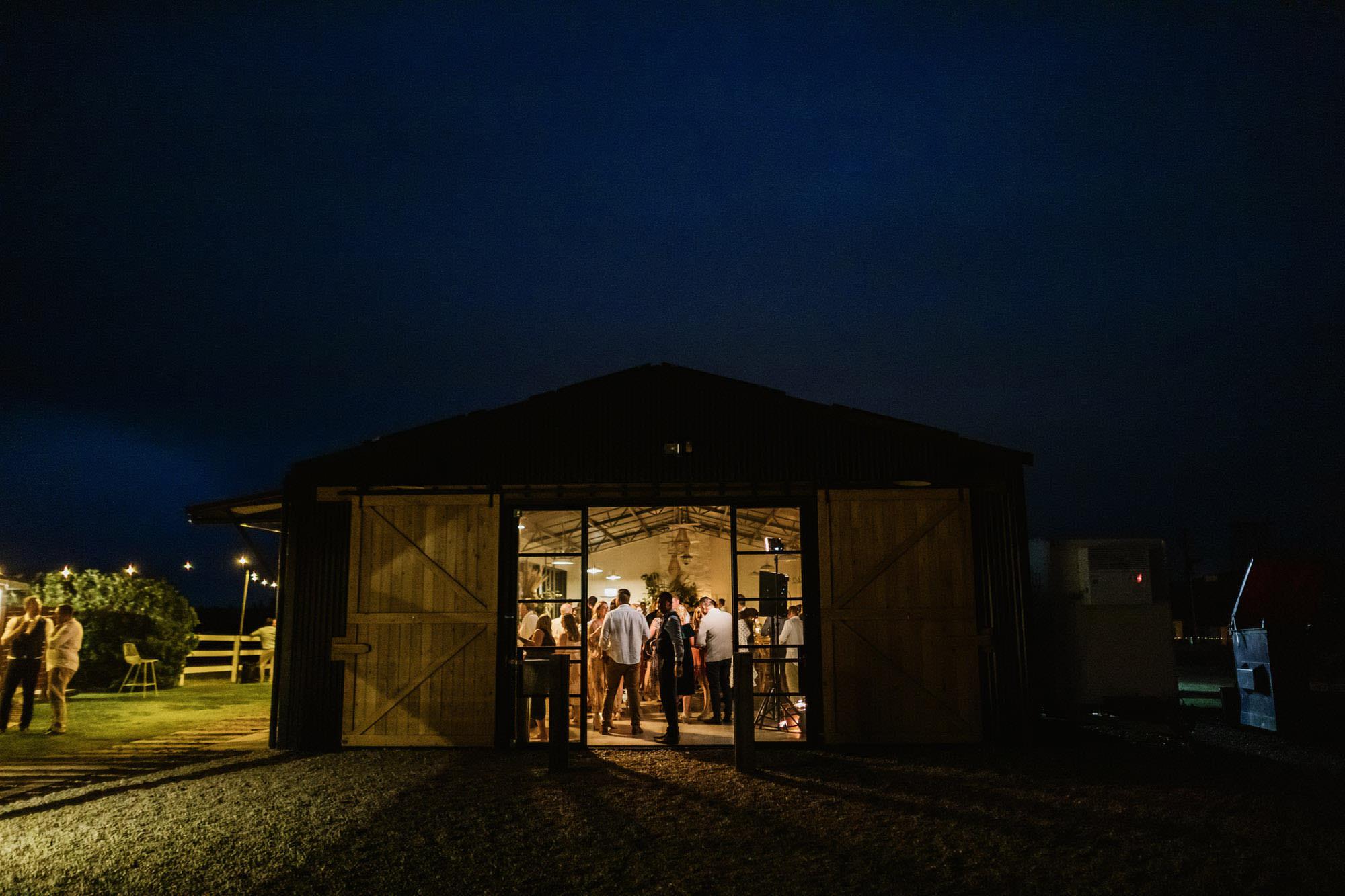Seacliff House Wedding at the Barn at night